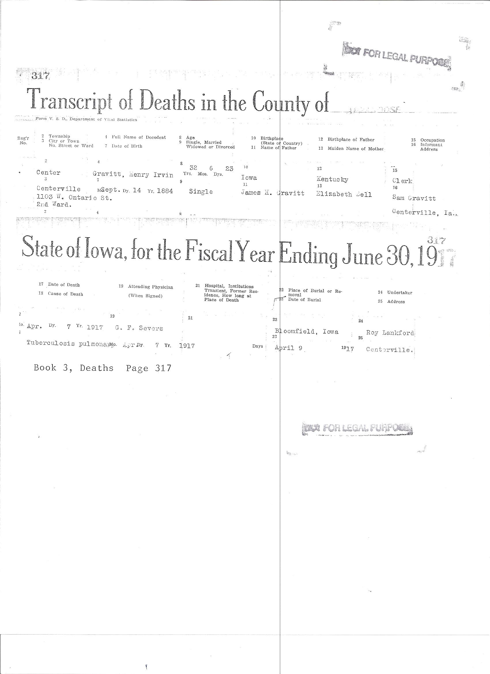 Adams - Ashby Family History - Person Page 140